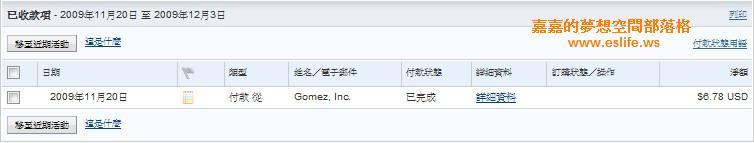 11/2009_Gomez PEER收錢紀錄